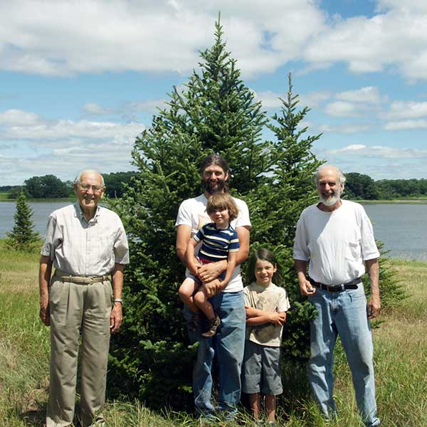 four generations of Dittberner's by lake